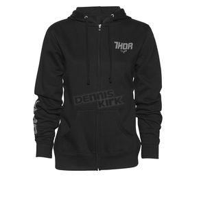 Thor Women's Black Fin Zip Hoody - 3051-0936