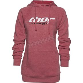 Thor Women's Heather Pink Pinin Pullover Hoody - 3051-0947