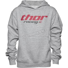 Thor Girls Heather Gray Pinin Pullover Hoody - 3052-0392