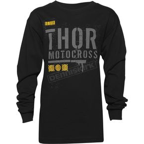 Thor Youth Black Objective Long Sleeve Shirt  - 3032-2426
