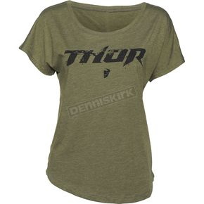 Thor Womens Olive Roost Dolman T-Shirt - 3031-3005