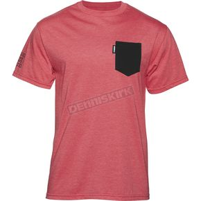 Thor Red Heather Shroud Pocket T-Shirt - 3030-14667
