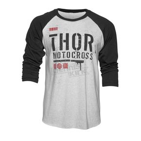 Thor White Objective 3/4 Sleeve Shirt - 3030-14679