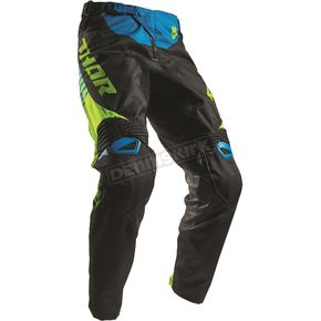 Thor Black/Lime Fuse Propel Pants - 2901-6293