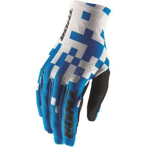 Thor Powder Blue/White Void Bits Gloves - 3330-4445