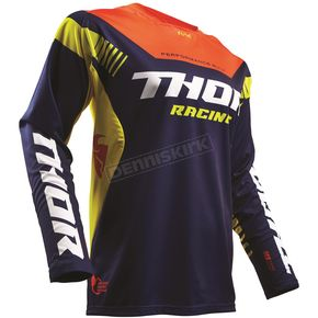 Thor Navy/Red/Orange Fuse Propel Jersey - 2910-4239