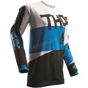 Thor White/Blue Pulse Taper Jersey - 2910-4245