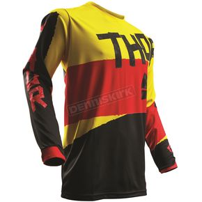 Thor Yellow/Red Pulse Taper Jersey  - 2910-4260