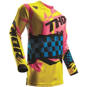 Thor Yellow/Pink Pulse Louda Jersey  - 2910-4261