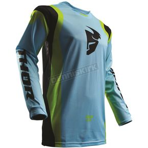 Thor Powder Blue/Lime Pulse Air Profile Jersey - 2910-4271