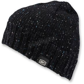 100% Black Heather Niva Merino Wool Beanie - 20115-001-01
