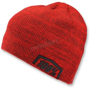 100% Red Essential Acrylic Skully Fit Beanie - 20116-003-01