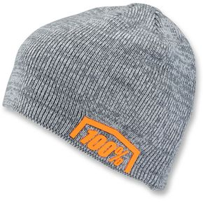100% Charcoal Heather Essential Acrylic Skully Fit Beanie  - 20116-052-01