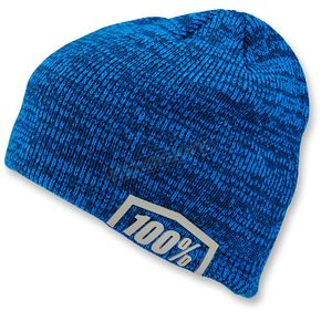100% Heather Blue Essential Acrylic Skully Fit Beanie - 20116-182-01