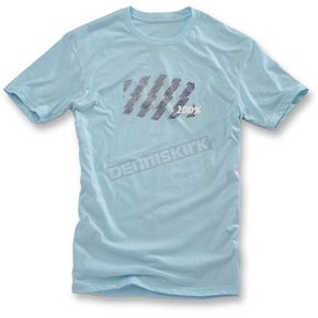 100% Ice Blue Strike T-Shirt  - 32051-148-12