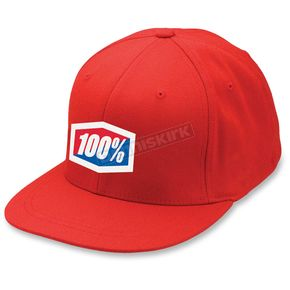 100% Red Essential Flex Fit Hat - 20040-003-18