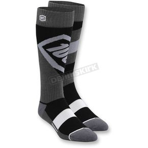 100% Black Torque MX Socks - 24007-001-18