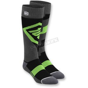 100% Lime Torque MX Socks - 24007-027-17