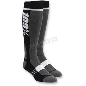 100% Black Hi Side MX Socks - 24008-001-18
