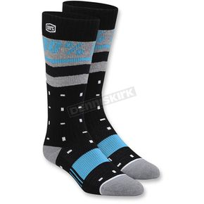 100% Womens Black Groove Socks - 24201-012-01