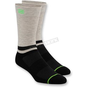 100% Black Block Athletic Crew Socks - 24009-001-18