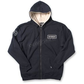 Factory Effex Navy Yamaha Zip-Up Sherpa Hoody - 20-88234