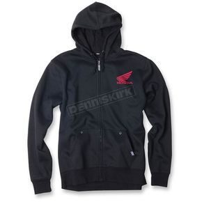 Factory Effex Black Honda Ride Red Moto Zip-Up Hoody - 20-88306