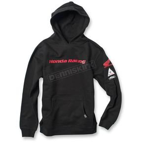 Factory Effex Youth Black Honda Racing Pullover Hoody - 19-83334