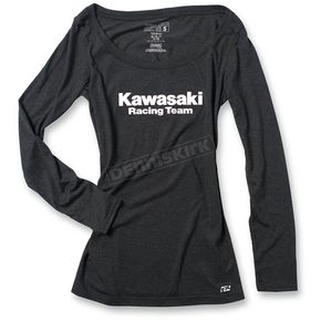 Factory Effex Women's Black Kawasaki Racing Long Sleeve Shirt - 20-87116