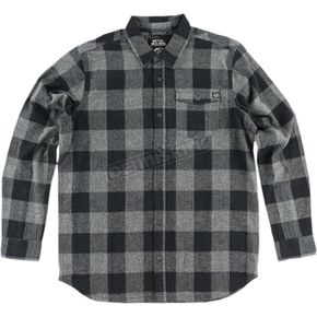 Metal Mulisha Heather Gray/Gray Explicit Long-Sleeve Flannel Shirt - FA6504000HGR2XL
