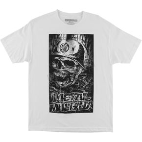 Metal Mulisha White Shredded T-Shirt  - FA6518026WHTXL