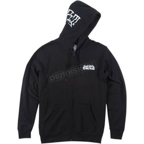 Metal Mulisha Black Smash Hooded Zip-Up - FA6522002BLKXXL