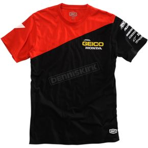 100% Black/Red Geico Honda Bias T-Shirt - 32901-001-10
