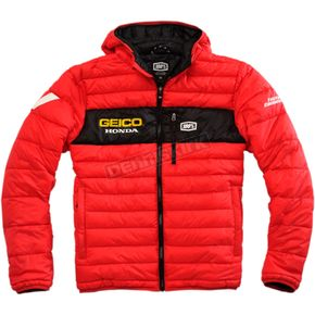 100% Geico Honda Mode Hooded Puffer Jacket - 39902-003-10