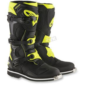 Alpinestars Black/Yellow Tech 1 Boots - 2016016-155-15