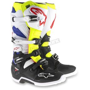 Alpinestars White/Yellow/Black Tech 7 Boots - 2012014-257-14