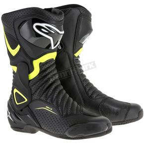 Alpinestars Black/Yellow SMX 6 V2 Vented Boot - 2223017-1550-42