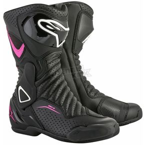 Alpinestars Black/Pink/White Stella SMX-6 v2 Women's Vented Boot - 2223117-1132-42
