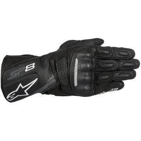 Alpinestars Black/Dark Gray SP-8 v2 Leather Gloves - 3558317-111-L