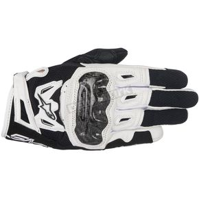 Alpinestars Womens Black/White Stella SMX-2 v2 Air Carbon Gloves - 3517717-12-XS