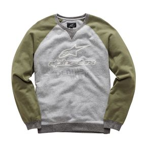 Alpinestars Heather Gray Pace Fleece Sweatshirt  - 1017520021026XL
