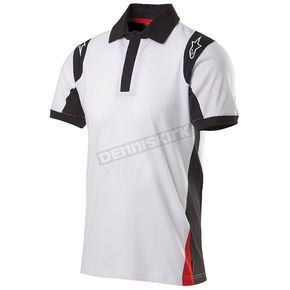 Alpinestars White Spielberg Short Sleeve Polo Shirt - 1015-41005-20-L