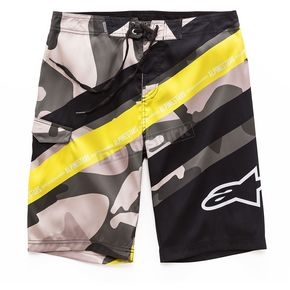 Alpinestars Military Green Lambo Boardshorts - 101724009608-36
