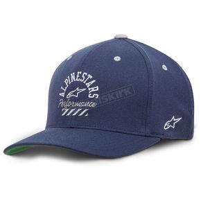 Alpinestars Navy Empire Curve Hat - 10178100470LX