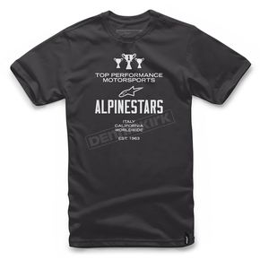 Alpinestars Black Worldwide T-Shirt  - 101772012-10-M