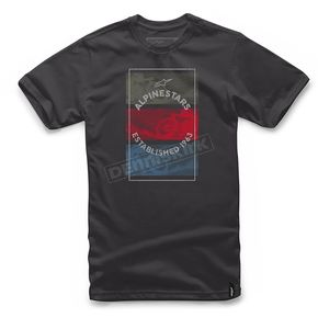 Alpinestars Black Burnt T-Shirt  - 101772026-10-2X