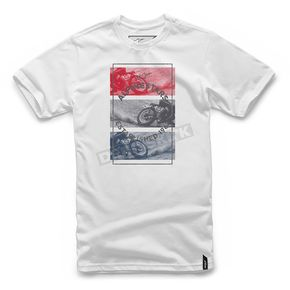 Alpinestars White Burnt T-Shirt  - 101772026-20-2X