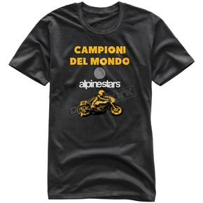 Alpinestars Black Del Mondo T-Shirt - 101773209-10-XL