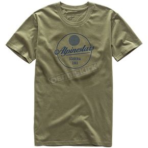 Alpinestars Army Green Decal T-Shirt - 101773211-69-S