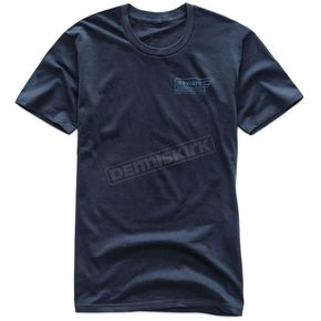 Alpinestars Navy Static T-Shirt  - 101773215-70-S